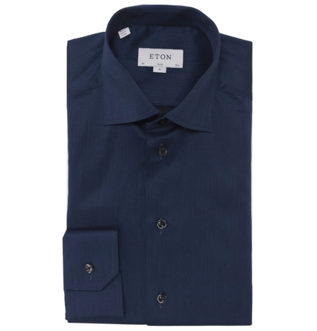 Navy Contemporary Formal Shirt