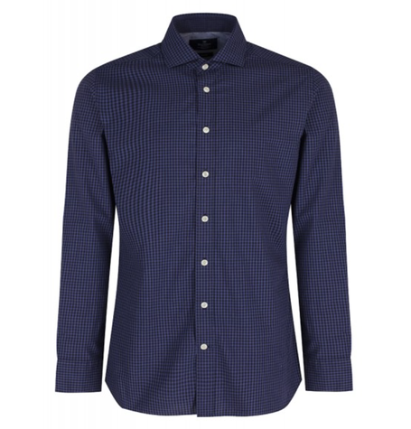 Blue/sky heather gingham shirt