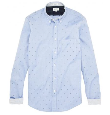 Blue Oxford Music Note Shirt