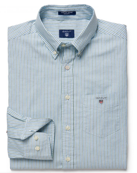 Green Oxford Stripe Shirt