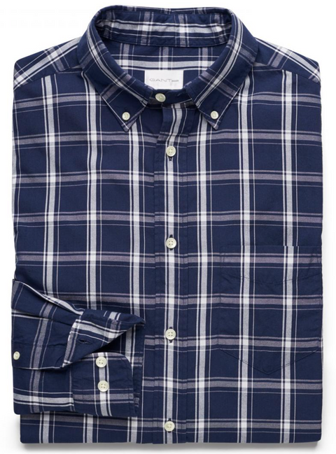 Evening Blue Dreamy Oxford Check Shirt
