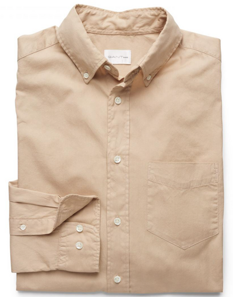 Sand Solid Cotton Shirt