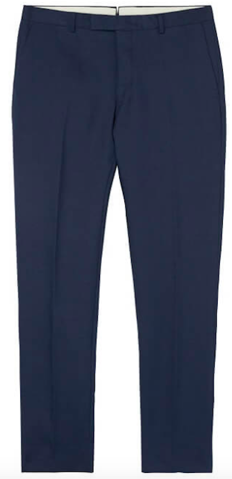 Linen Navy Trousers