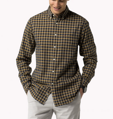 Arrowwood Navy Gingham Shirt