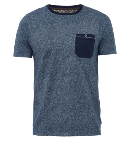 Navy All Over Printed T-shirt