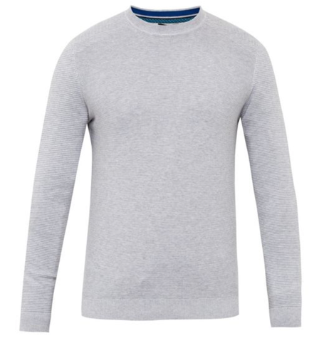 Grey Stitch Detail Crew Neck