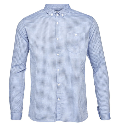 Light Weave Dot Print Shirt
