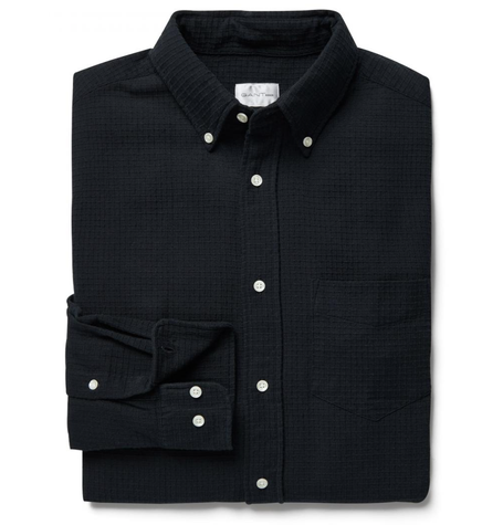 Black Dobby Check Shirt