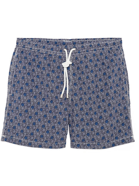 Liberty Navy & White Print Shorts