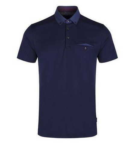 Geo Jacquard Collar Polo