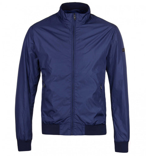 Navy Nylon Blouson Jacket