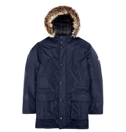 Navy Quilted Parka