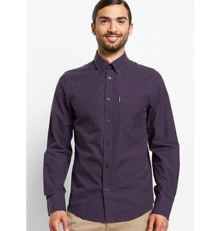 Black Grape Gingham Mod Shirt