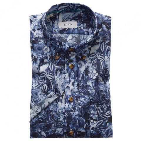 Blue Floral Check Superlight Shirt
