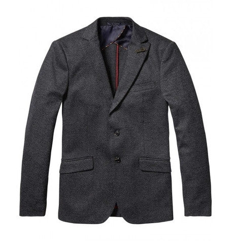 Classic Tweed Knitted Blazer