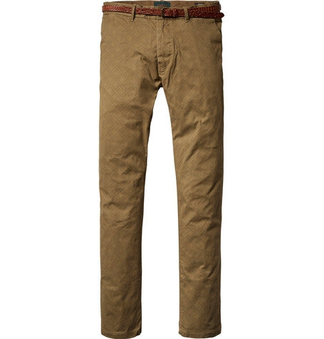 Tan Garment Dyed Chinos