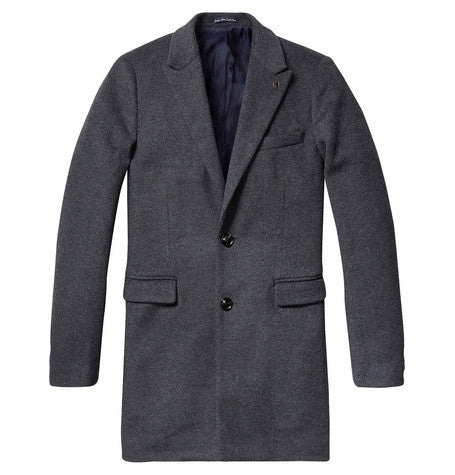 Graphite Melange Long Coat