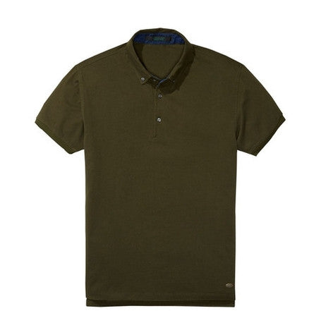 Military Green Pique Polo