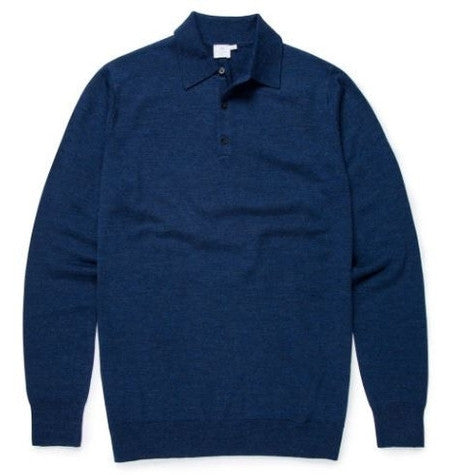 Fine Merino Long Sleeve Polo Jumper
