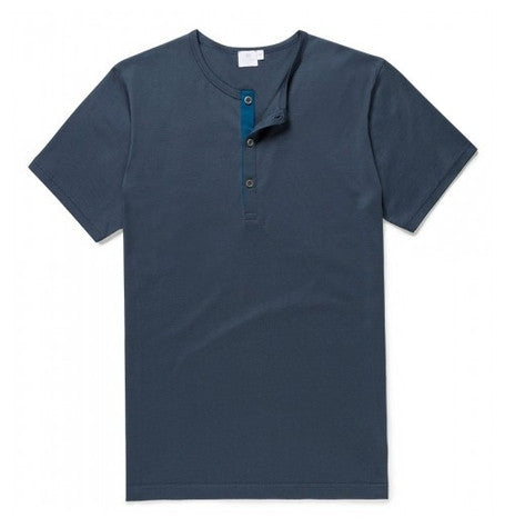 Skye Henley with Contrast Placket Tee