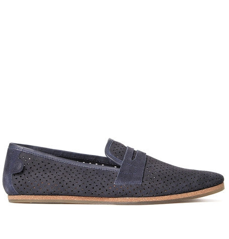 Platt Suede Navy Summer slip on