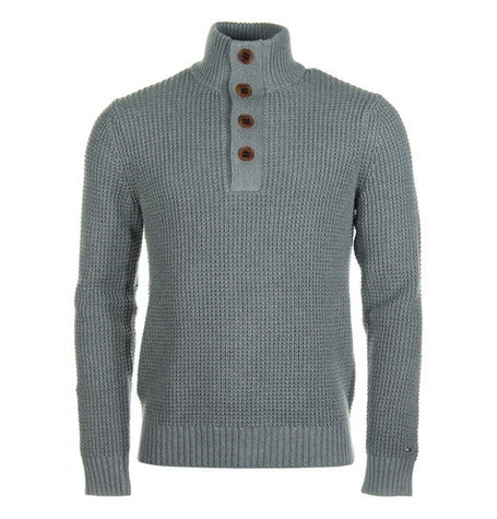 Dosel Silver Fog Button Jumper