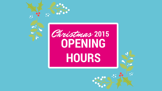 Opening Hours This Christmas