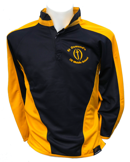 St. Osmund's Rugby shirt with logo
