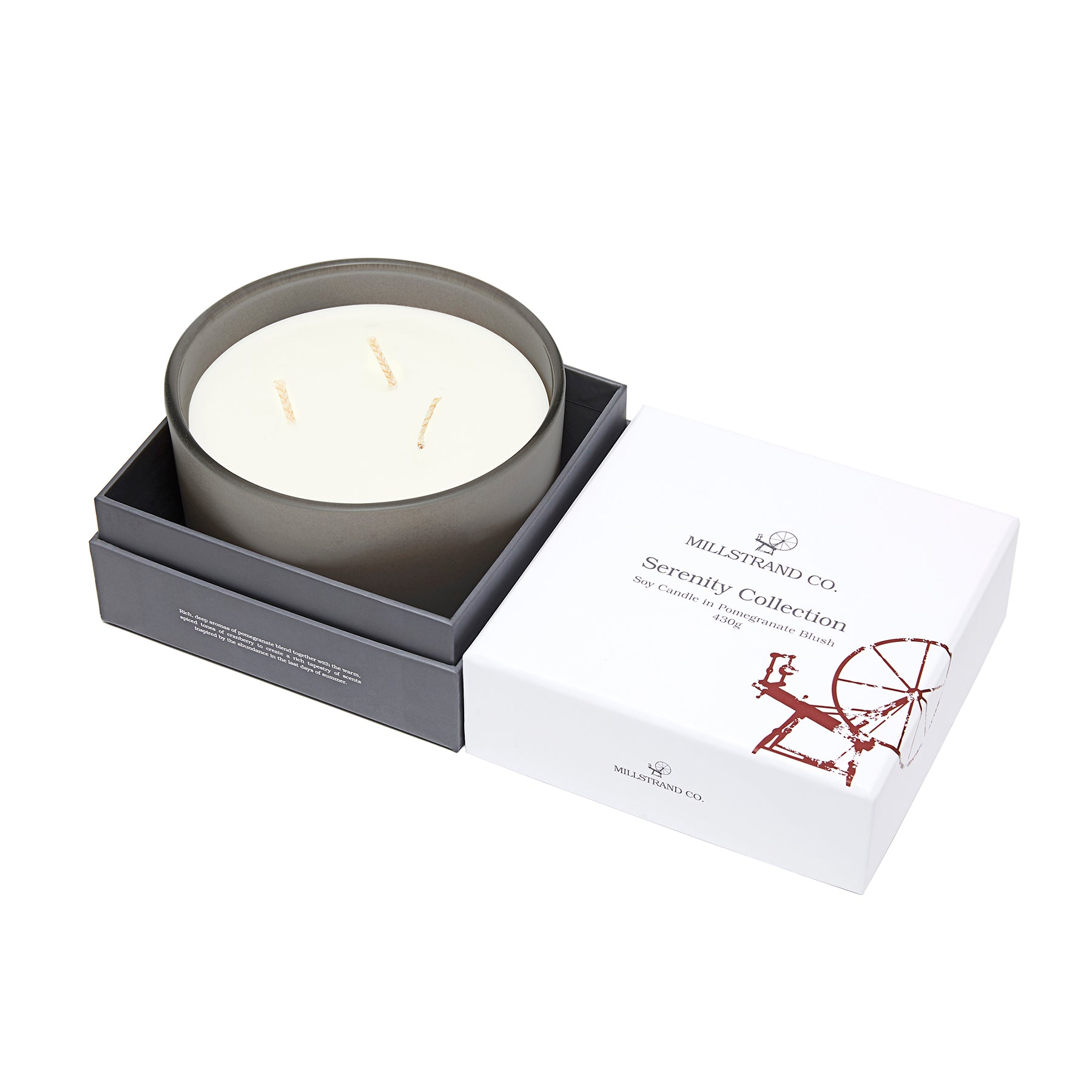 Millstrand Co. Serenity Collection - Soy Candle in Pomegranate Blush 430g