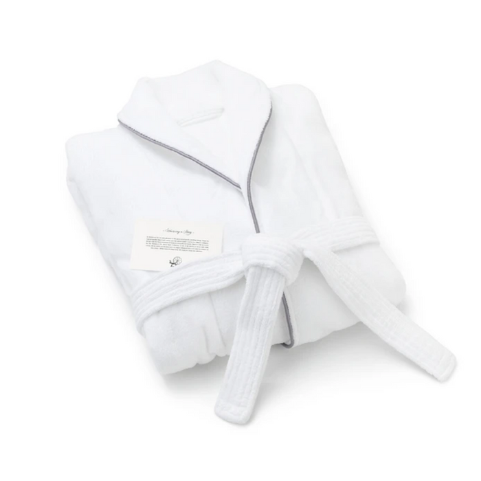Millstrand Co. Island Bath Collection - Bathrobe, Morning White