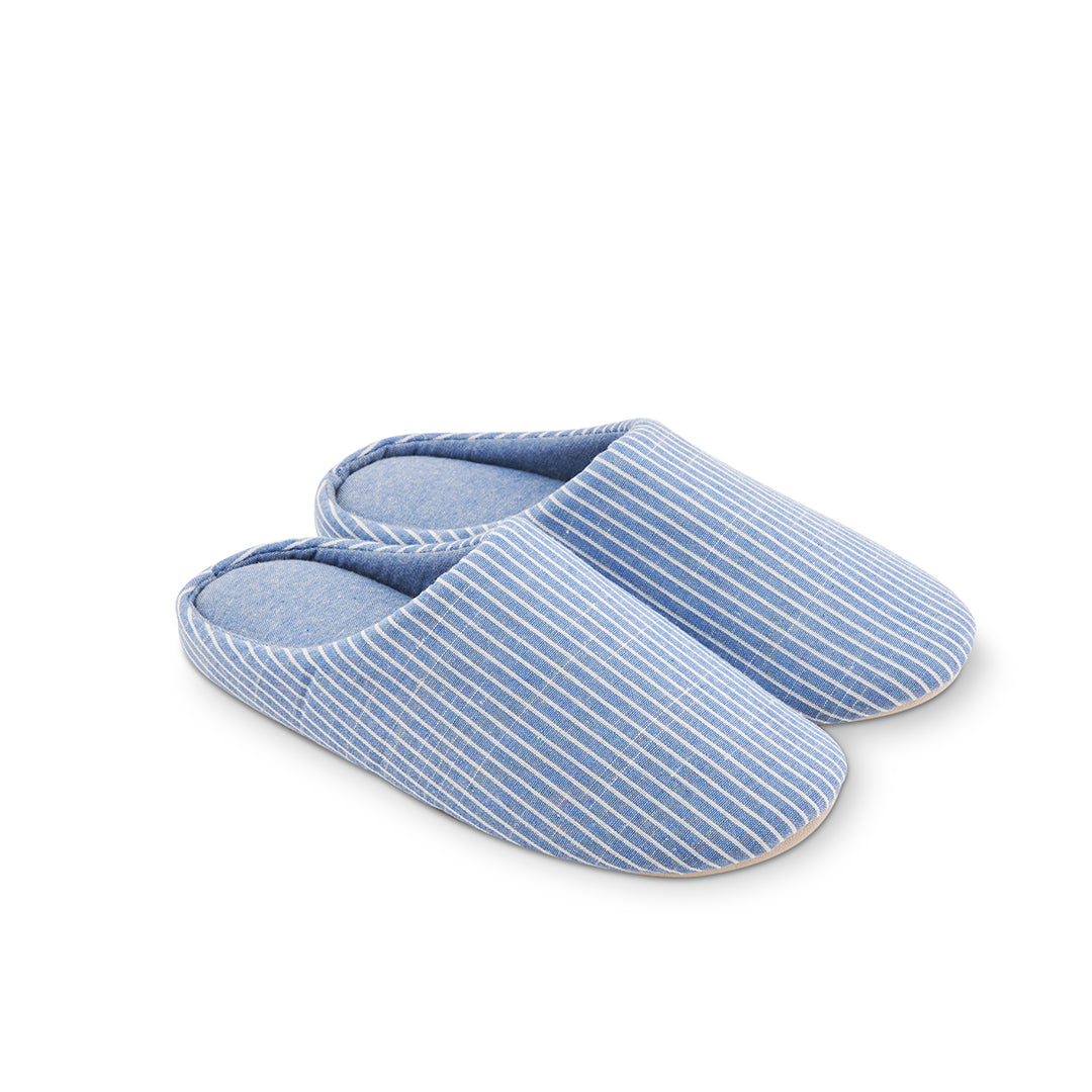 Millstrand Co. Aspen Indoor Slippers, Blue & White