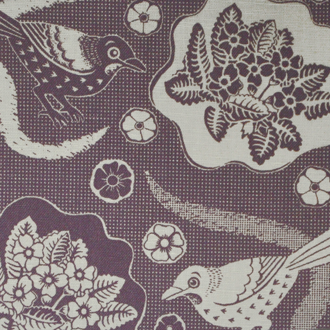 First Bird, Plum Linen Print