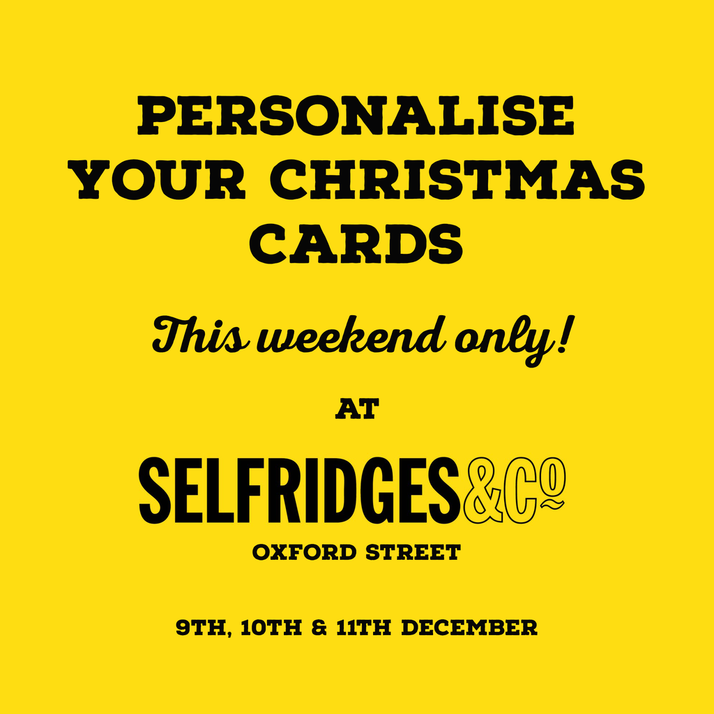 Personalised Christmas cards at Selfridges & Co