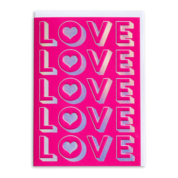 Neon Pink LOVE | Greeting Card