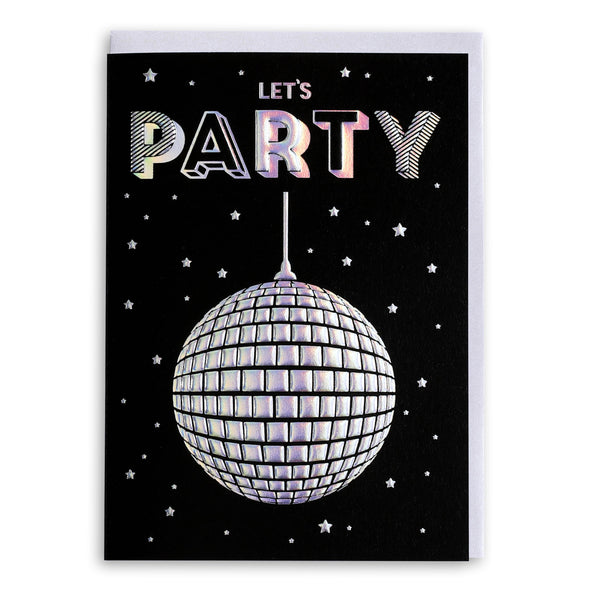 Lets Party Disco Ball | Greeting Card