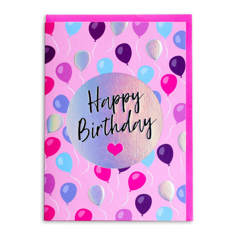 Happy Birthday Pink Party | Greeting Card