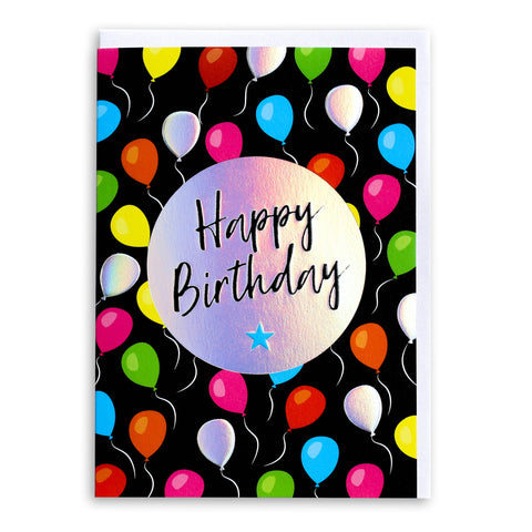 Happy Birthday Party Balloons | Greeting Card