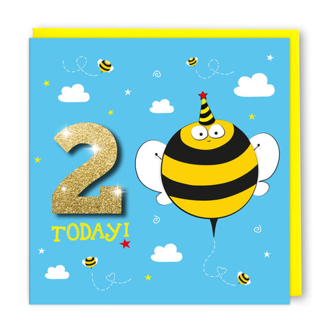 Age 2 Bumblebee | Birthday Card