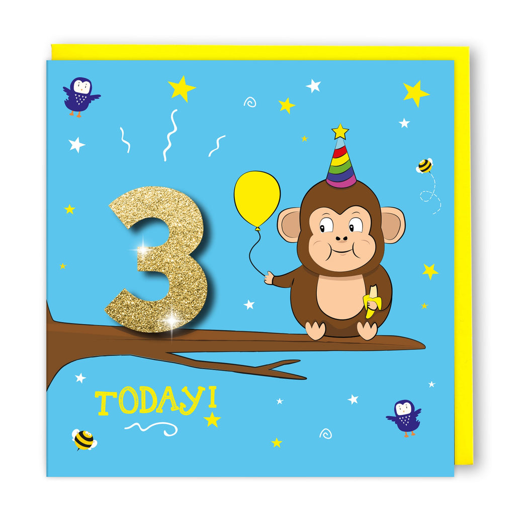 Age 3 Cheeky Monkey | Birthday Card