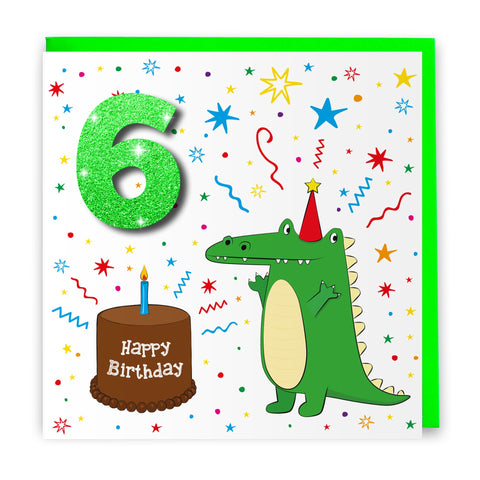 Age 6 Crocodile | Birthday Card