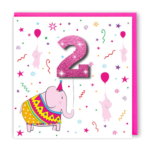 Age 2 Mexican Elephant | Birthday Card
