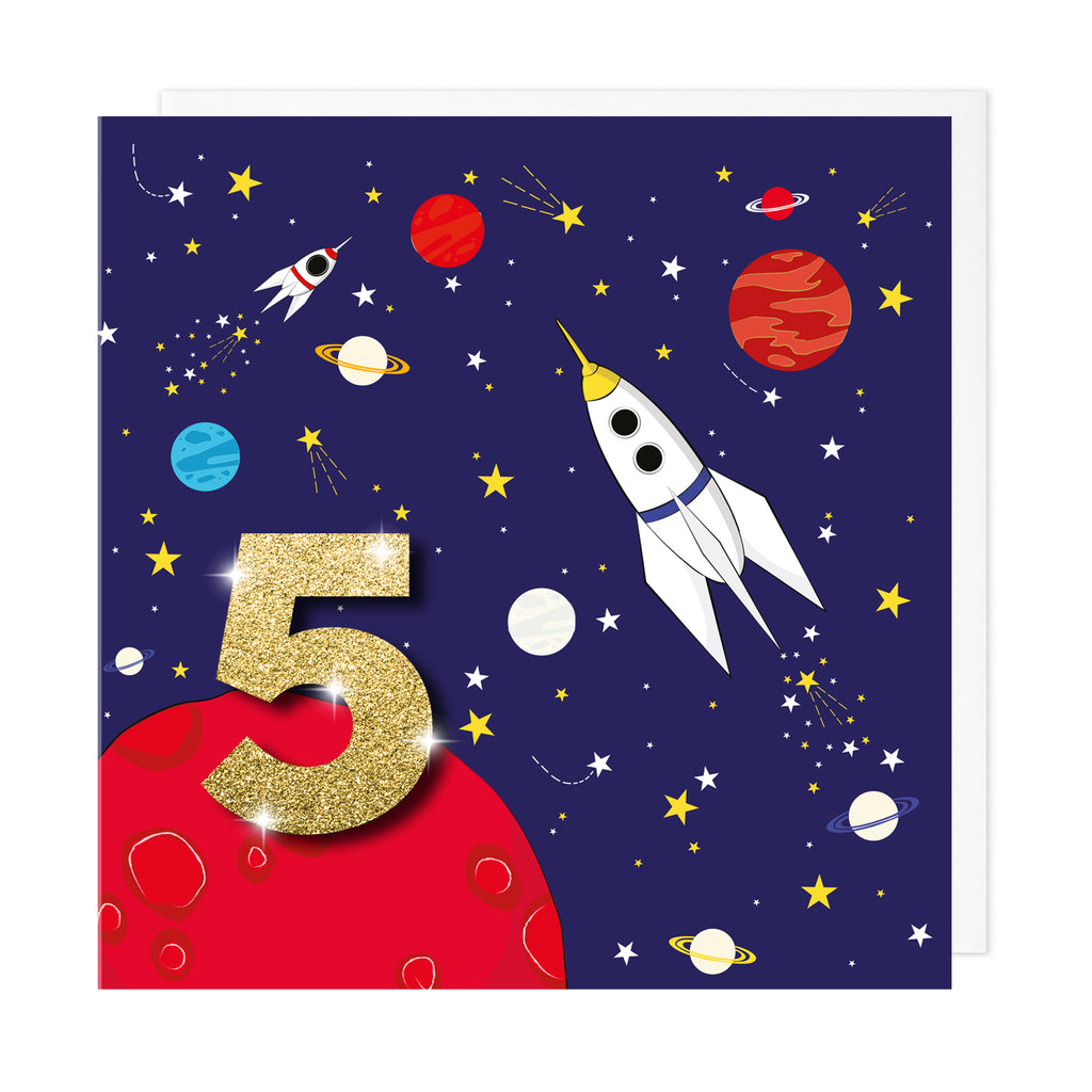 Age 5 Space | Birthday Card