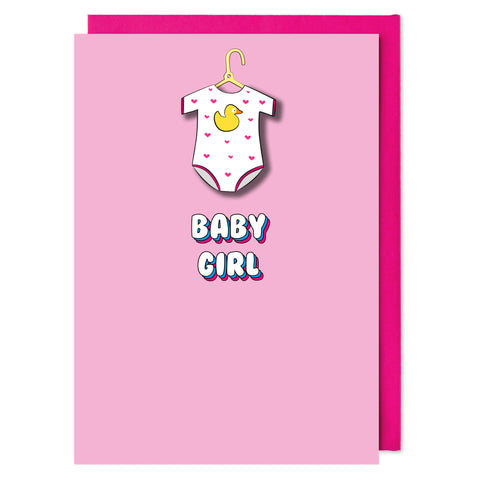 Baby Girl New Born Card