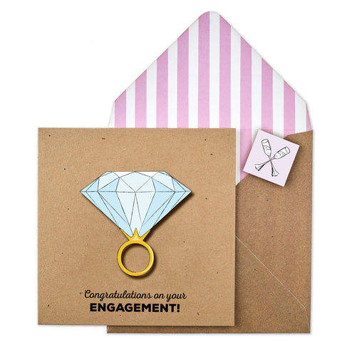 Congratulation's On Your Engagement Card