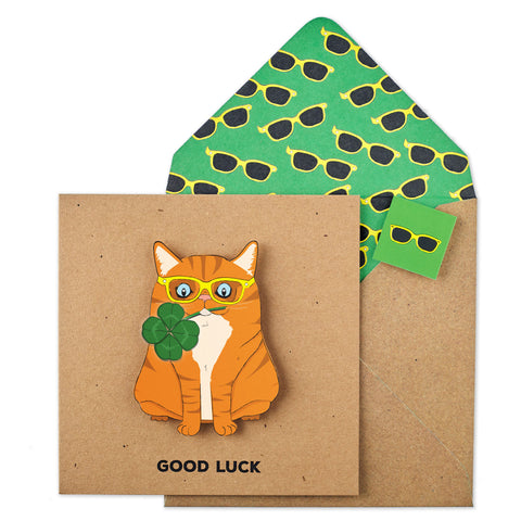 Good Luck Ginger Cat - TACHE - 1