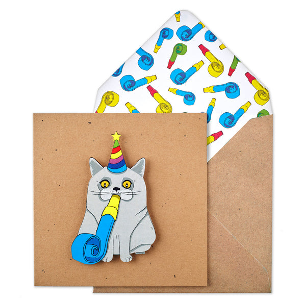 Birthday Party Blower Cat