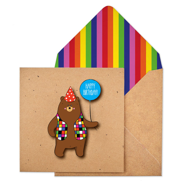 Patchwork Birthday Bear