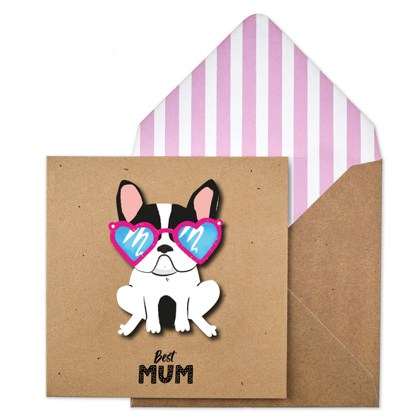Best Mum Frenchie Glasses