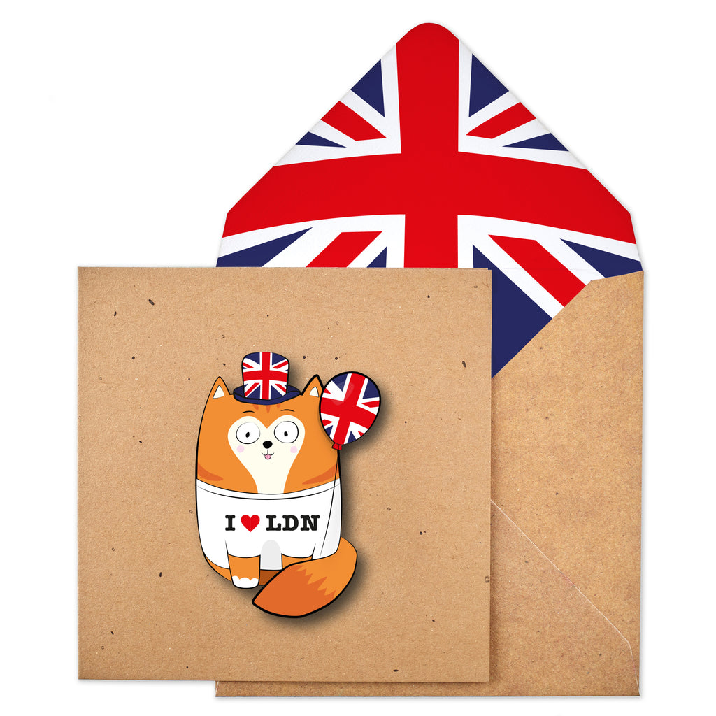 I Love London Ginger Cat