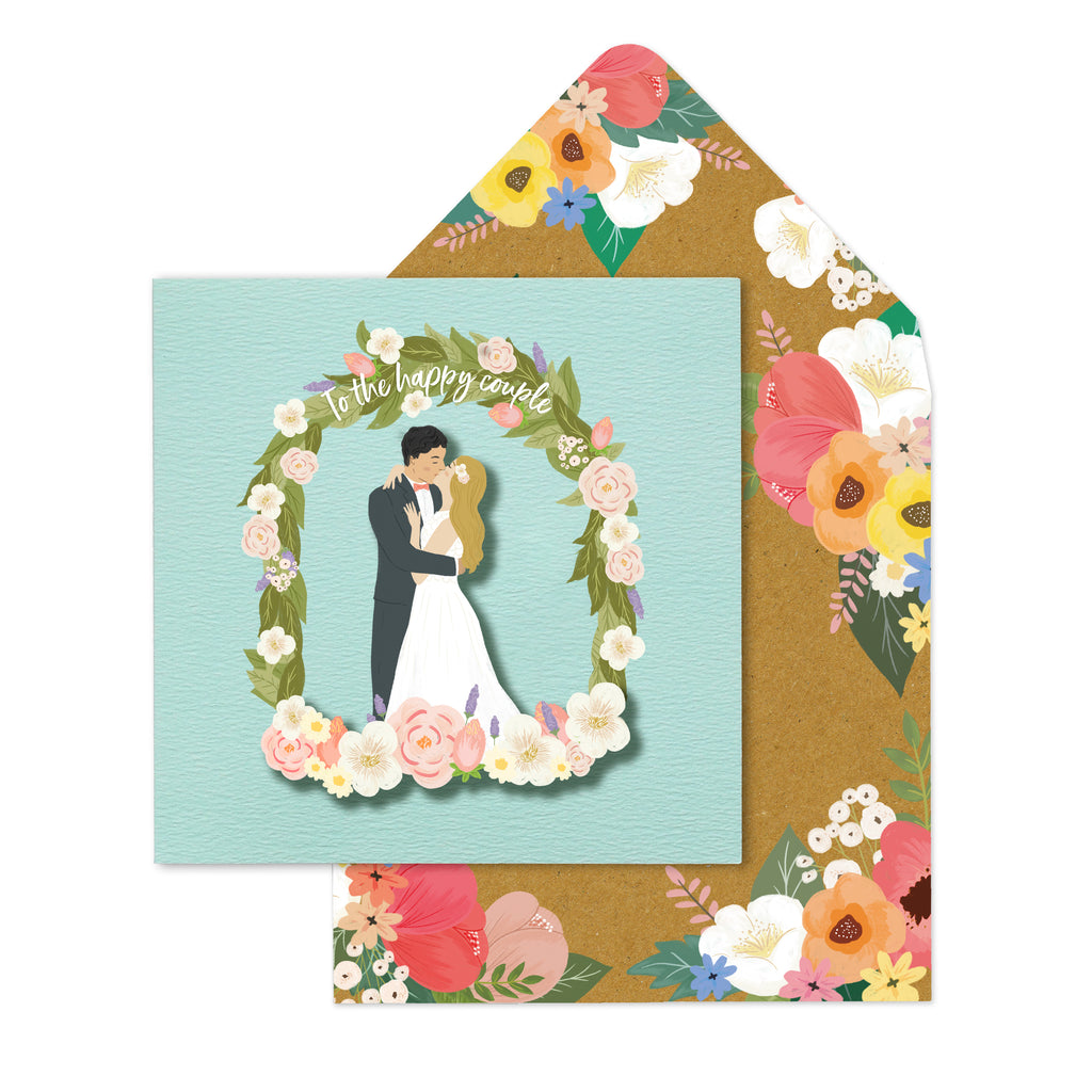 Mr & Mrs Couple Floral Arch